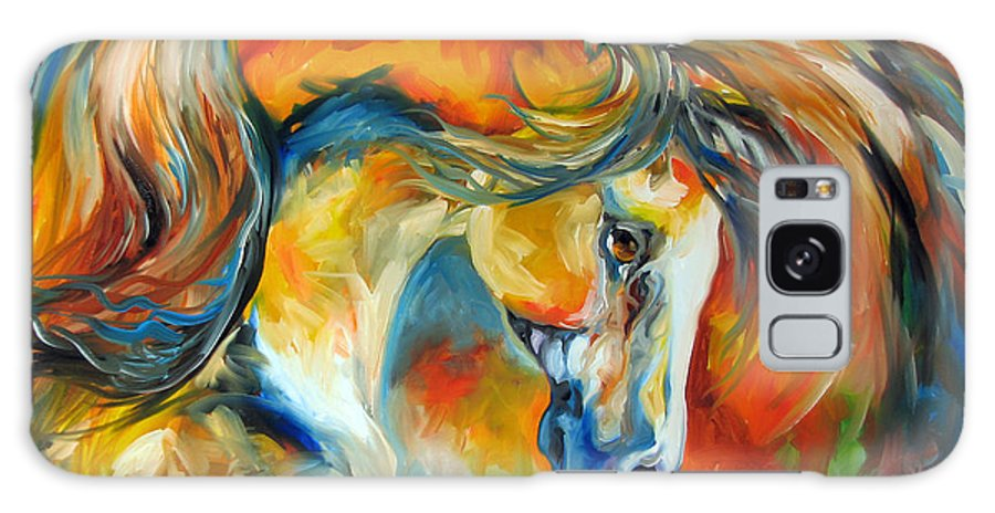 Equine Galaxy S8 Case featuring the painting Mustang West by Marcia Baldwin