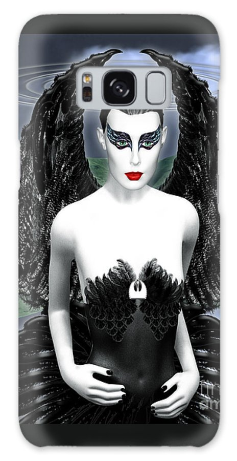 Black Swan Galaxy S8 Case featuring the digital art My Black Swan by Keith Dillon