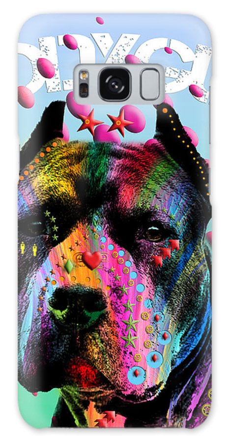 Pop Art Galaxy S8 Case featuring the painting My Bodyguard by Mark Ashkenazi
