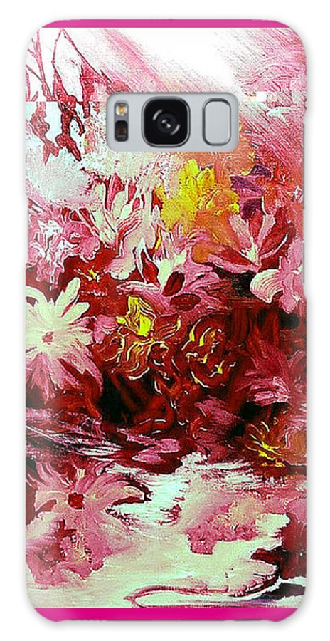 Flowers Galaxy Case featuring the painting My Heart's Desire by Carolyn LeGrand