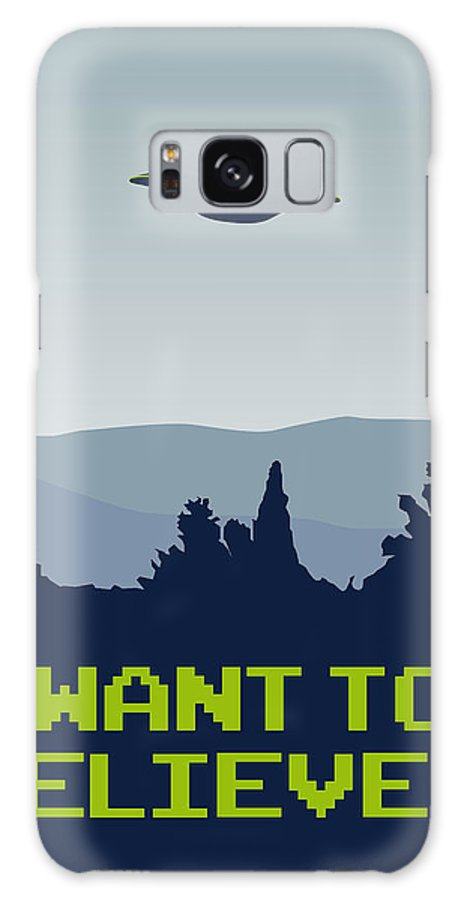 Classic Galaxy S8 Case featuring the digital art My I Want To Believe Minimal Poster by Chungkong Art