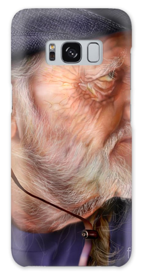 Willie Nelson Galaxy S8 Case featuring the painting My Man Willie by Reggie Duffie