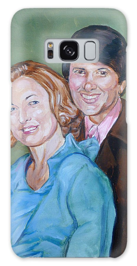 Parents Galaxy S8 Case featuring the painting My Parents by Bryan Bustard