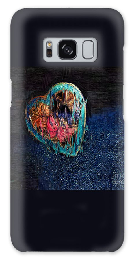 Heart Galaxy S8 Case featuring the painting My Rough Imperfect Heart by RC DeWinter