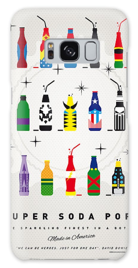 Icepops Galaxy S8 Case featuring the digital art My SUPER SODA POPS No-00 by Chungkong Art