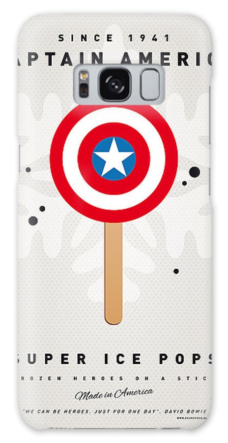 Superheroes Galaxy S8 Case featuring the digital art My Superhero Ice Pop - Captain America by Chungkong Art