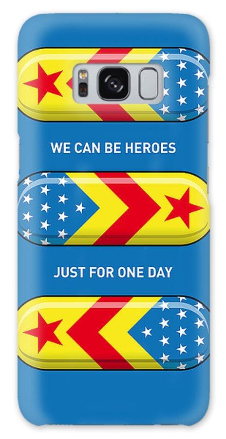 Superheroes Galaxy S8 Case featuring the digital art My Superhero Pills - Wonder Woman by Chungkong Art