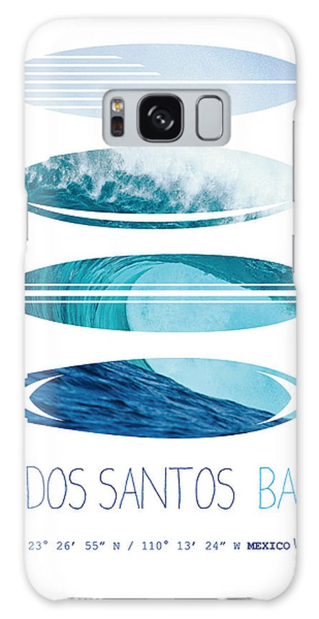 Mexico Galaxy S8 Case featuring the digital art My Surfspots Poster-6-todos-santos-baja by Chungkong Art