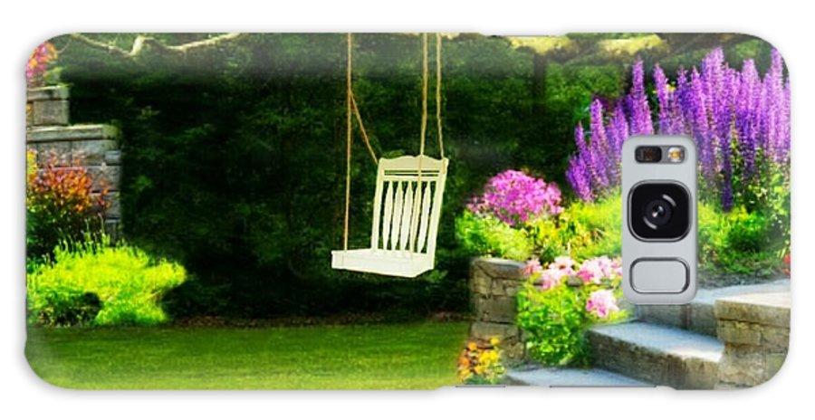 Garden Spot Galaxy S8 Case featuring the digital art My Sweet Spot by Ellen Cannon
