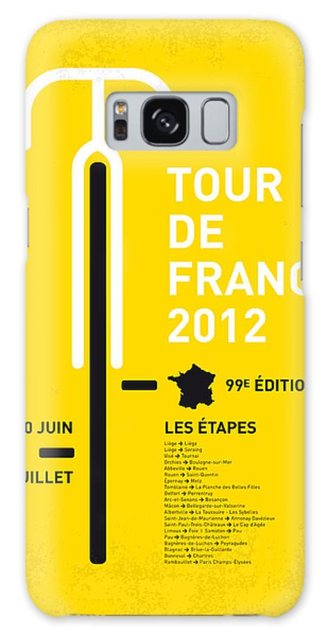 Tour Galaxy S8 Case featuring the digital art My Tour De France Minimal Poster 2012 Oud by Chungkong Art