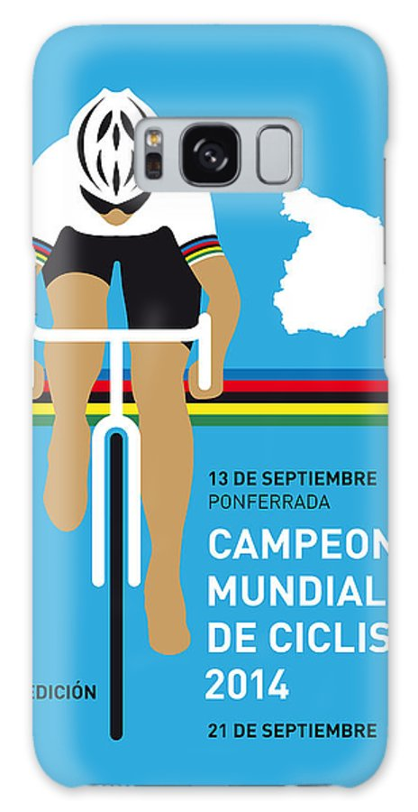 Minimal Galaxy S8 Case featuring the digital art My Uci Road World Championships Minimal Poster 2014 by Chungkong Art