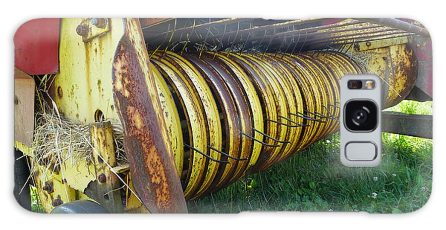 Rusty Farm Equipment Galaxy S8 Case featuring the photograph My Work Is Done by Sarah Lamoureux