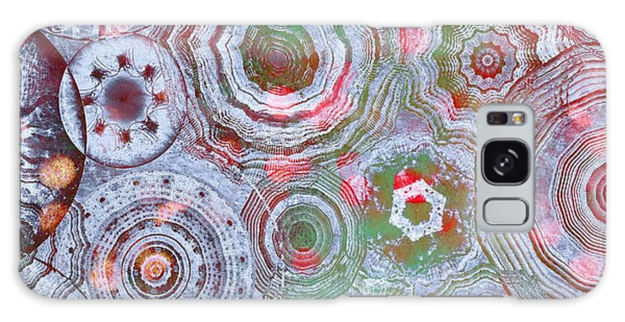 Abstract Galaxy S8 Case featuring the digital art Mysterious Circles 3 by Klara Acel
