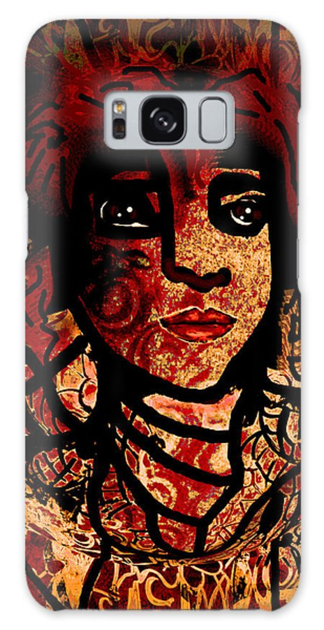Face Galaxy S8 Case featuring the mixed media Mysterious by Natalie Holland