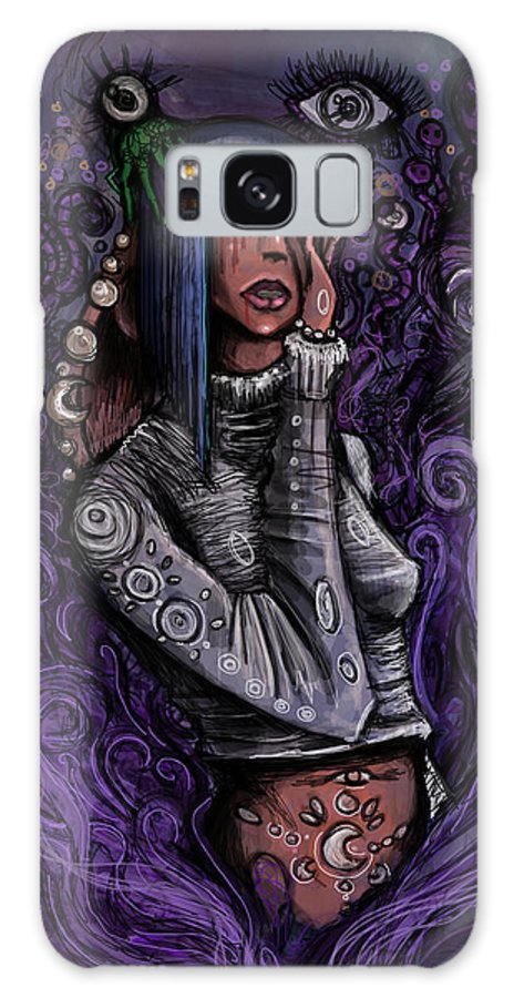 Thoughts Galaxy S8 Case featuring the digital art Mysterious Raine by Brooke Thorne
