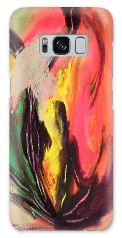 Fire Galaxy S8 Case featuring the painting Mystic Fire by Ed Ciolina
