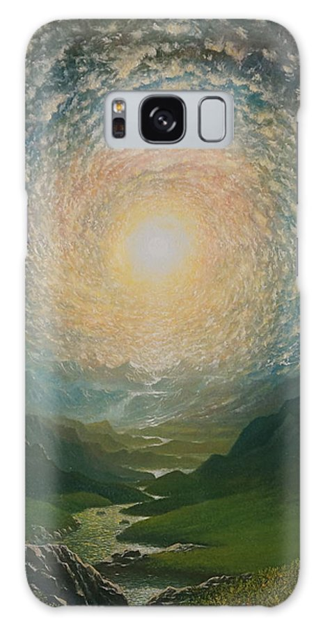 Sun Galaxy S8 Case featuring the painting Mystic Valley by Karma Moffett