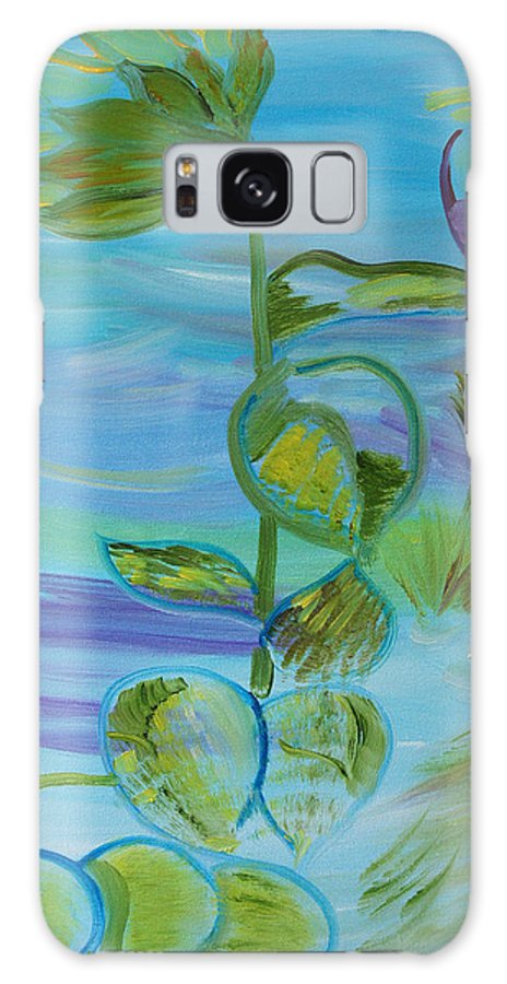 Blue Galaxy S8 Case featuring the painting Mystical Moods by Meryl Goudey
