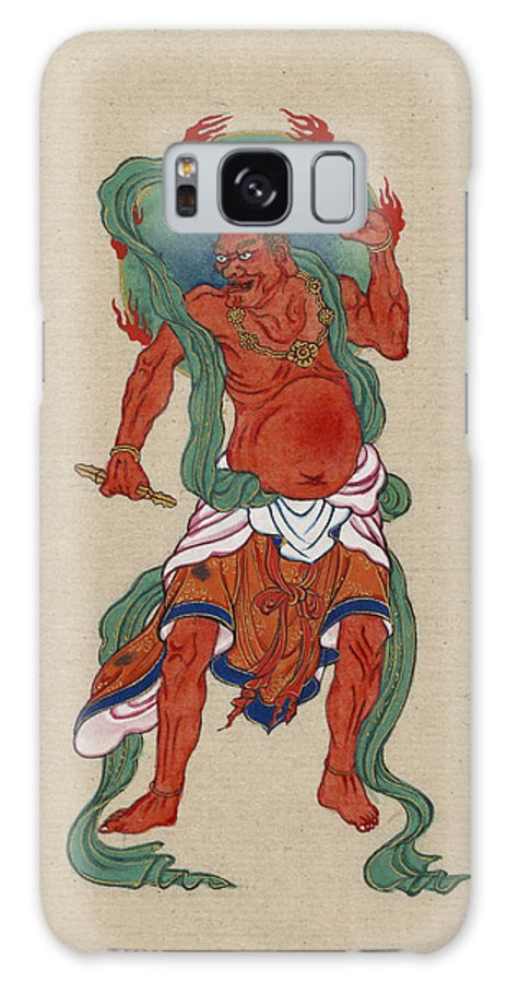 Myth Galaxy S8 Case featuring the painting Mythological Buddhist Or Hindu Figure Circa 1878 by Aged Pixel