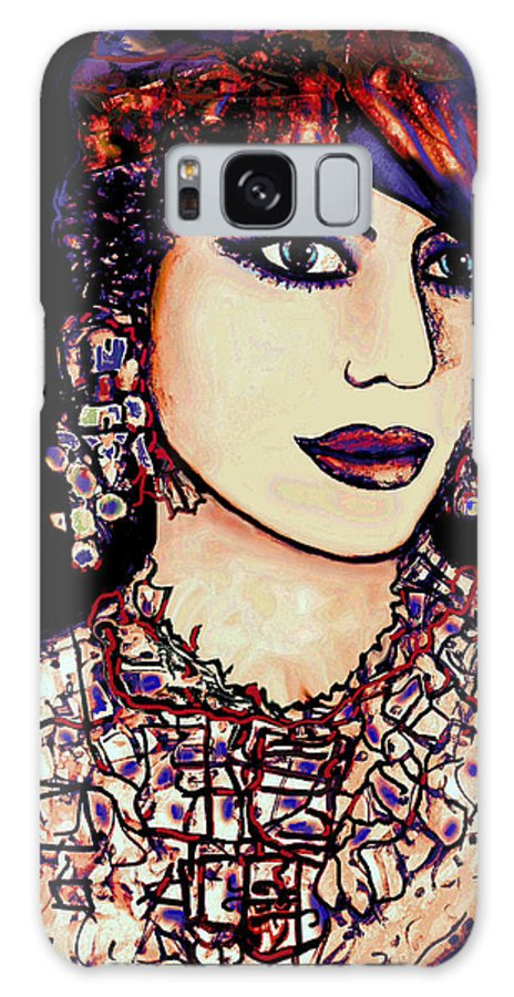 Woman Galaxy S8 Case featuring the mixed media Nadira by Natalie Holland