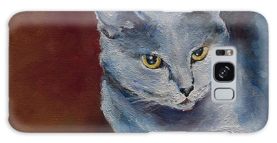 Cat Portrait Galaxy S8 Case featuring the painting Nala by Julie Dalton Gourgues