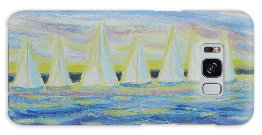 Nantucket Galaxy S8 Case featuring the painting Nantucket Sunrise by Diane Pape