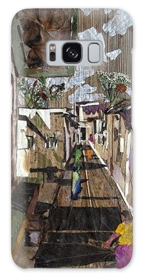 Street Scene Galaxy Case featuring the mixed media Narrow Street by Basant Soni