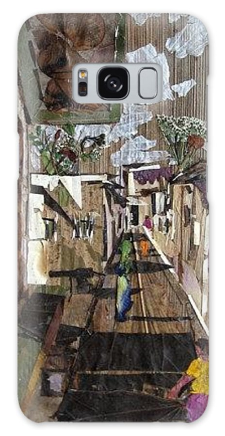Street Scene Galaxy S8 Case featuring the mixed media Narrow Street by Basant Soni