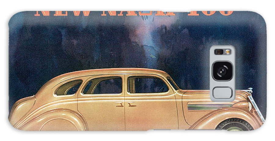 Advertisement Galaxy S8 Case featuring the drawing Nash 400 - Vintage Car Poster by World Art Prints And Designs