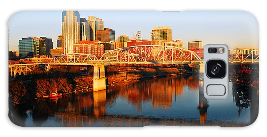 Nashville Galaxy S8 Case featuring the photograph Nashville Skyline by James Kirkikis