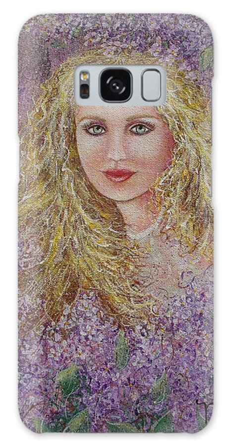 Portrait Galaxy S8 Case featuring the painting Natalie In Lilacs by Natalie Holland