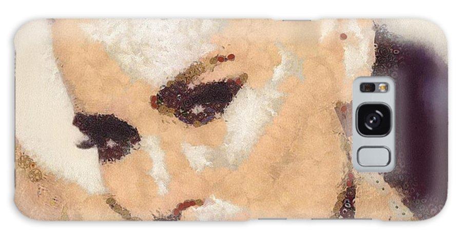 Natasha Bedingfield Galaxy S8 Case featuring the painting Natasha Bedingfield-bam by Catherine Lott