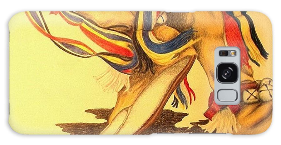 Dancer Galaxy S8 Case featuring the drawing Native Dancer's Feet 1 by Lew Davis