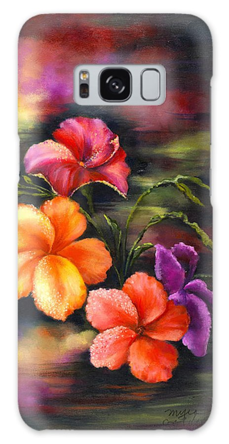Flowers Galaxy S8 Case featuring the painting Natural Beauty by Myra Goldick