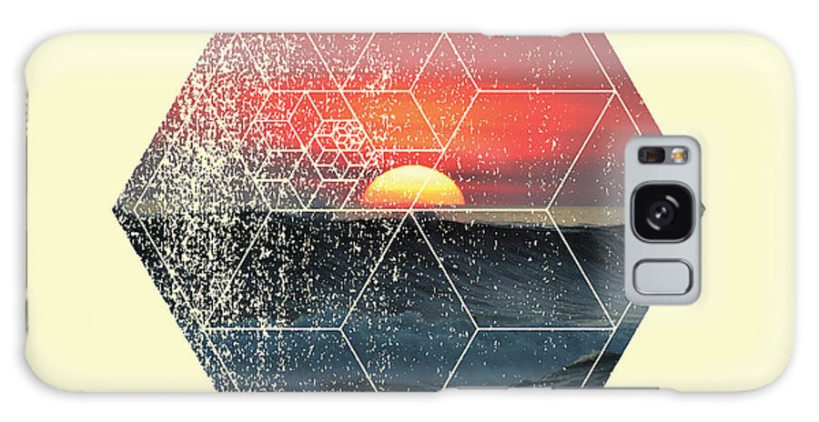 Geometry Galaxy S8 Case featuring the photograph Nature And Geometry - Sunset At Sea by Denis Marsili
