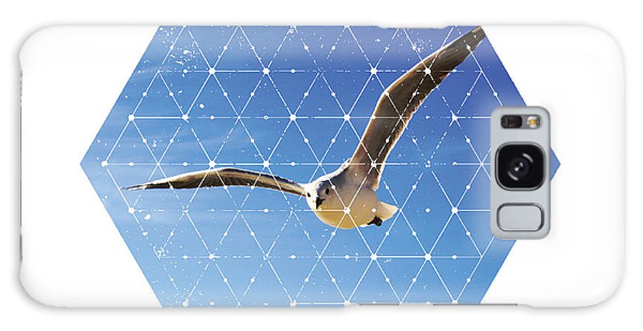 Geometry Galaxy S8 Case featuring the photograph Nature And Geometry - The Seagull by Denis Marsili