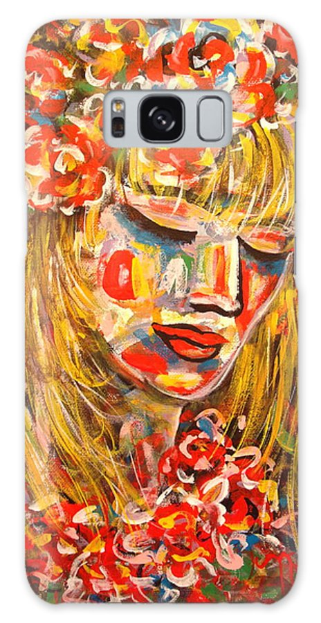 Girl Galaxy S8 Case featuring the painting Nature Girl by Natalie Holland