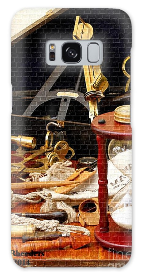 Art Galaxy S8 Case featuring the painting Nautical Tools by Gert J Rheeders