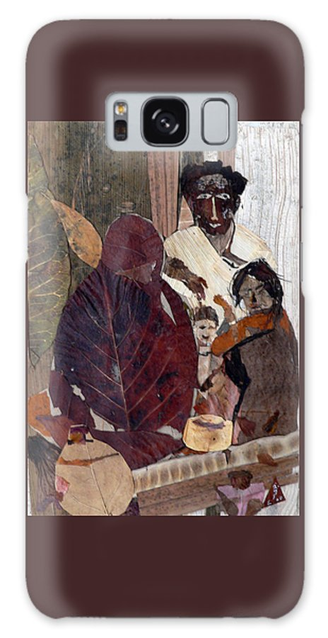 Group Portrait Galaxy S8 Case featuring the mixed media Needy Family by Basant Soni