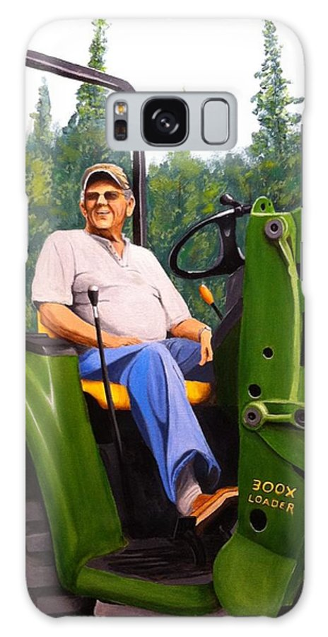 John Deer. Tractor. Oil On Canvas Galaxy S8 Case featuring the painting Neighbor by Logan Cobb