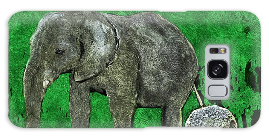 Elephant Galaxy S8 Case featuring the digital art Nelly The Elephant by Pennie McCracken