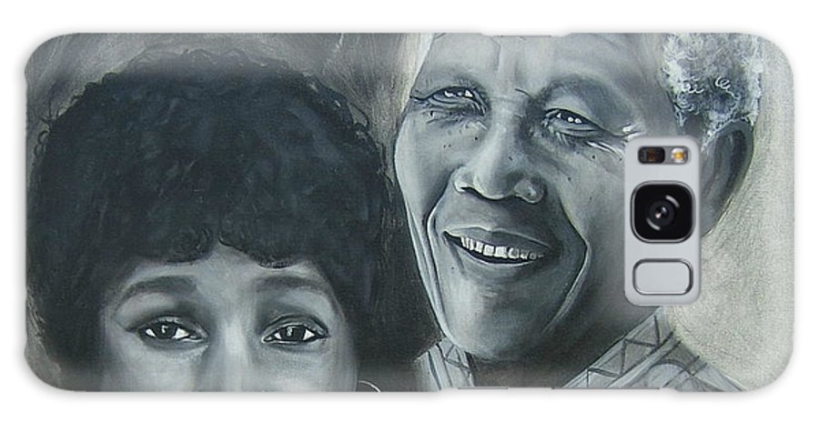 From Black & White Series Galaxy Case featuring the painting Nelson And Winnie by Howard Stroman