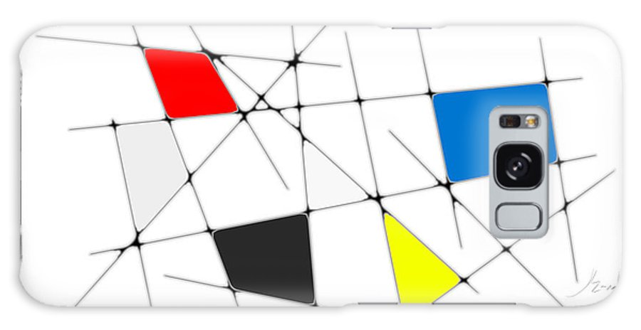 John Emmett Galaxy S8 Case featuring the digital art neoplasticism 09 I by John WR Emmett