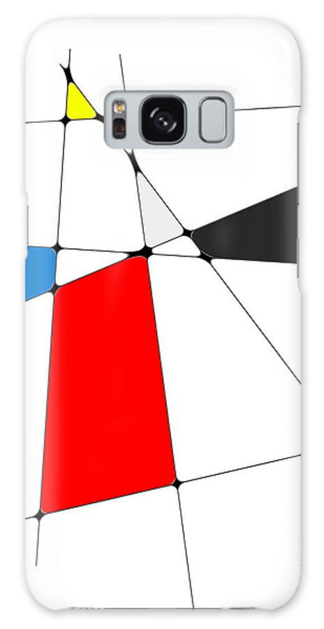 John Emmett Galaxy S8 Case featuring the digital art neoplasticism 10 III by John WR Emmett