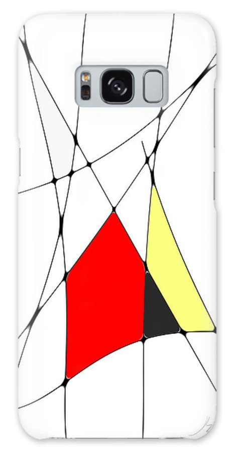 John Emmett Galaxy S8 Case featuring the digital art neoplasticism 10 V by John WR Emmett