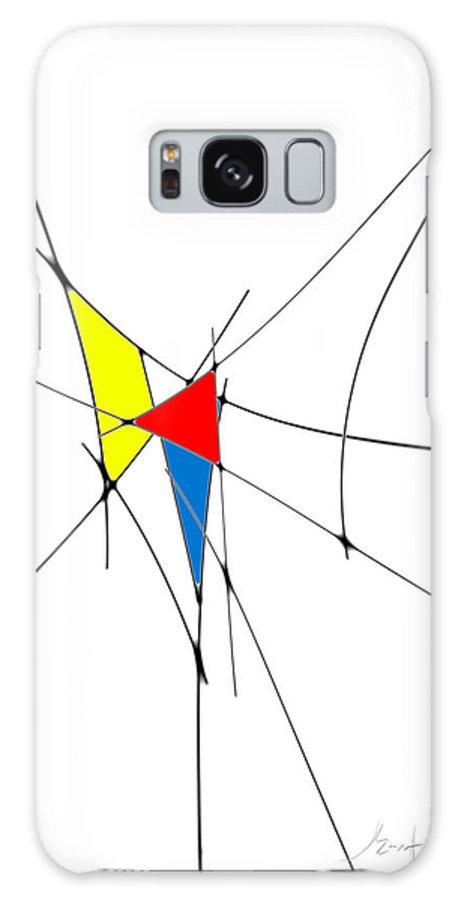 John Emmett Galaxy S8 Case featuring the digital art neoplasticism 11 II by John WR Emmett
