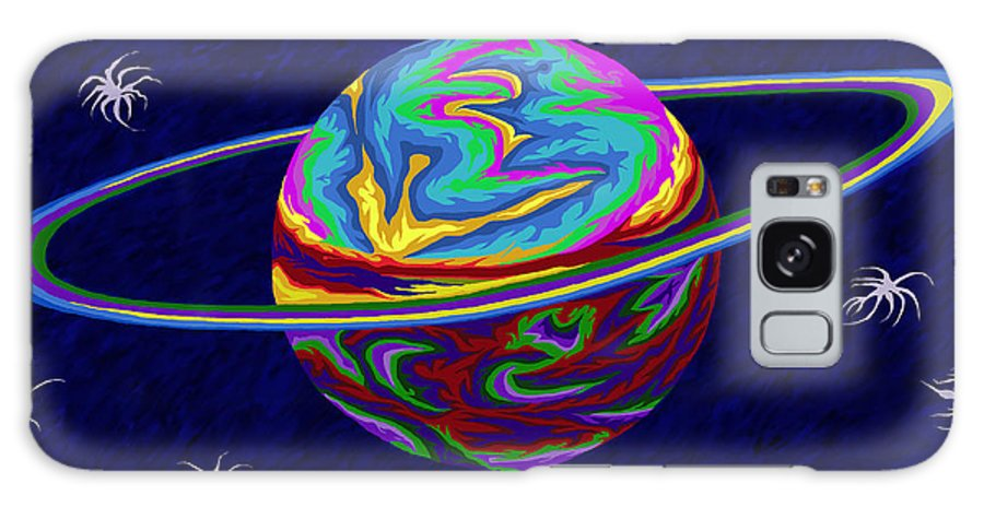 Neptune Galaxy S8 Case featuring the painting Neptune Ss by Robert SORENSEN