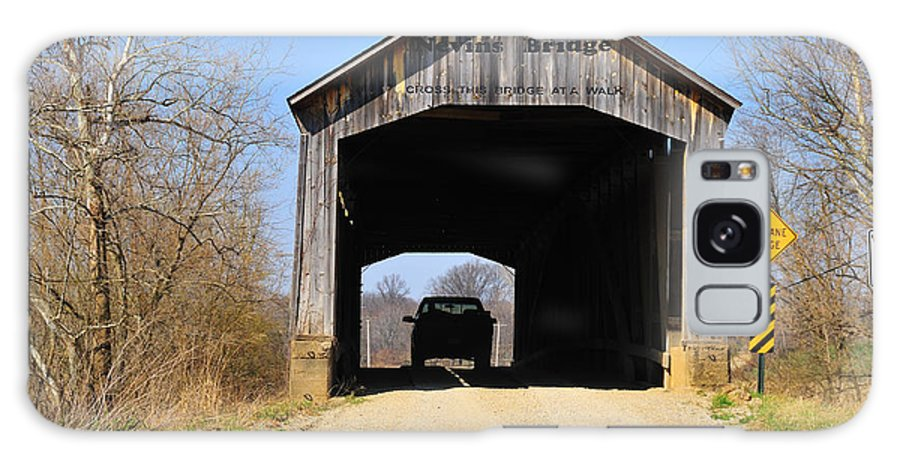 Nevins Bridge Galaxy S8 Case featuring the photograph Nevins Covered Bridge by David Arment