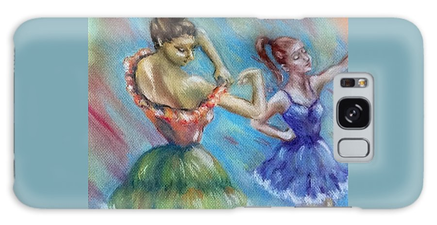 Dancers Galaxy S8 Case featuring the pastel New Girl by Luanne Rozran