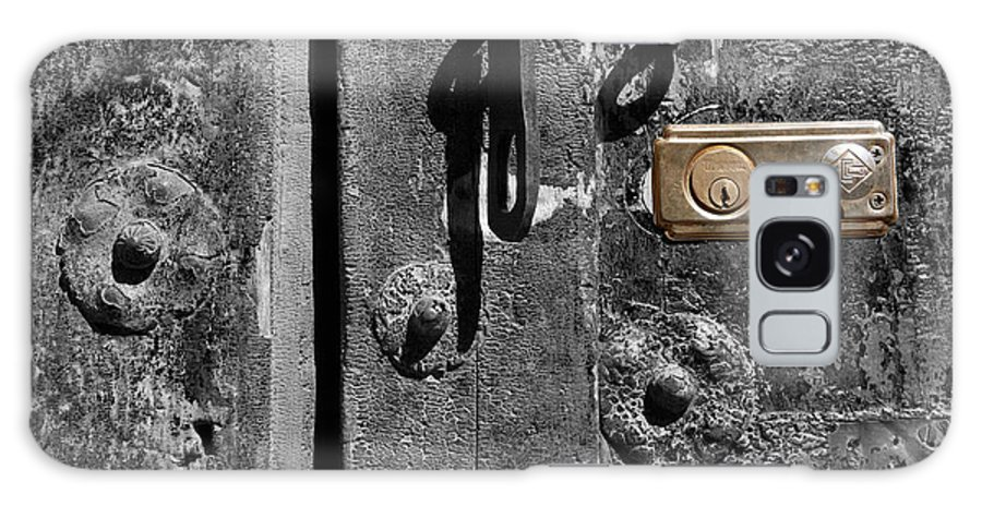 Still Life Galaxy S8 Case featuring the photograph New Lock On Old Door 2 by James Brunker